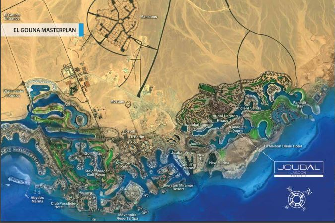 JOUBAL LAGOON PHASE In EL Gouna By Gates Real Estate Egypt - Map of egypt el gouna