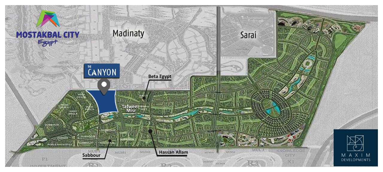 CANYON Al Mostakbal City By MAXIM DEVELOPMENTS -CANYON Compound-CANYON MAXIM DEVELOPMENTS-CANYON Mostakbal City-MAXIM Al Mostakbal City-El Mostakbal City Compounds-El Mostakbal City Real Estate-El Mostakbal City New Projects in egypt-Canyon Future City Compound-Future City New Project in Egypt-Canyon Master Plan