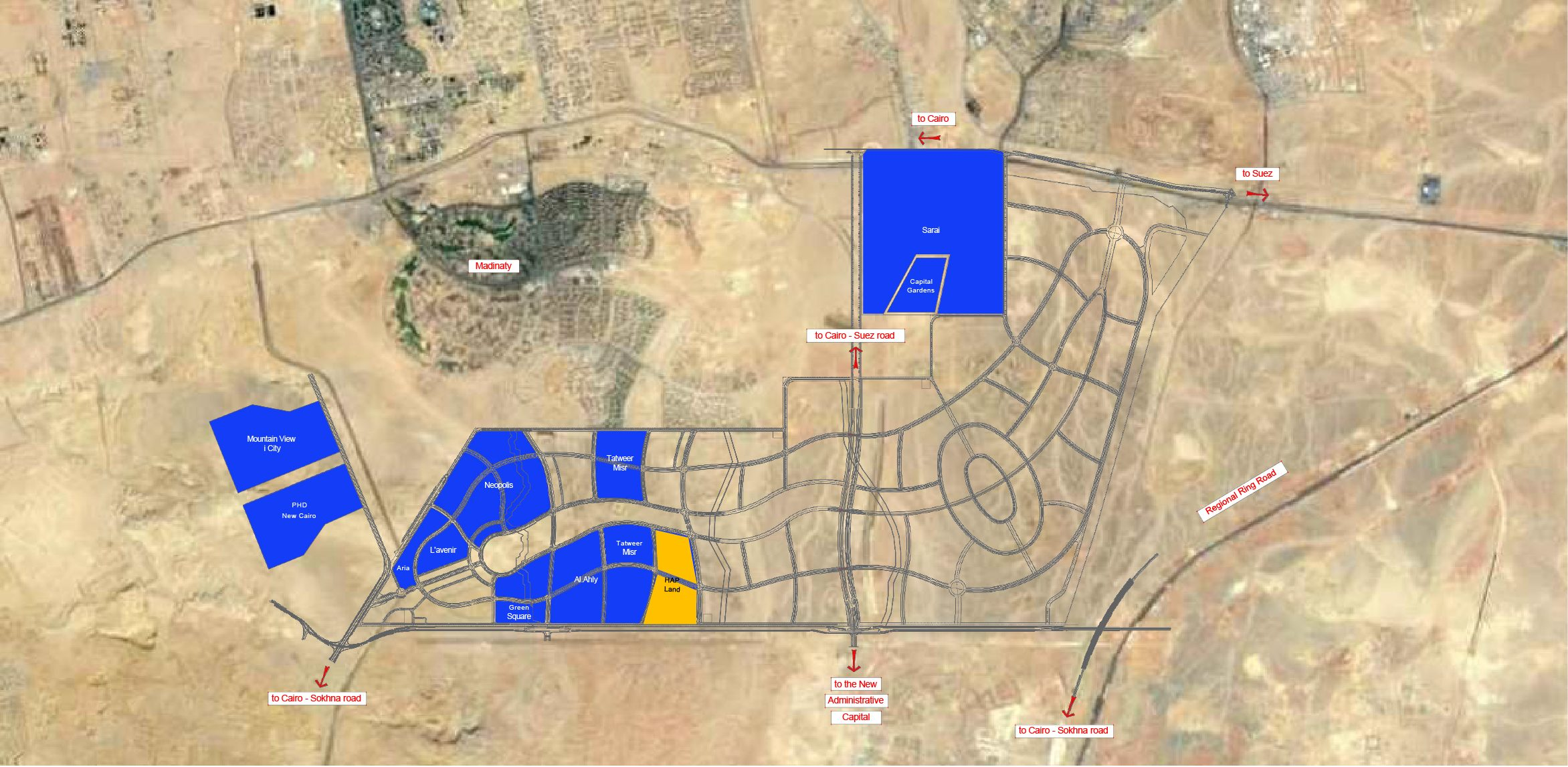 """HAPTOWN Hassan Allam Properties Seasons and Park View """" HAP"""" Located in Mostakbal City Apartments and Villa For Sale in HAP TOWN - 8 Gates Real Estate Egypt"""