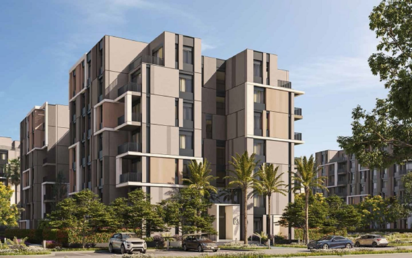 Swan Lake Residences The Phoenix New Cairo Apartments Fully Finished , HAP Hassan Allam Properties , 8 Gates Real Estate Egypt