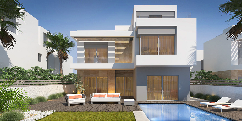 The Crown Palm Hills october, Palm Hills Compounds, Palm Hills October project, Crown Compound, Villa Palm Hills Developments - Crown Palm Hills Villa For Sale in 8 Gates Real Estate Egypt