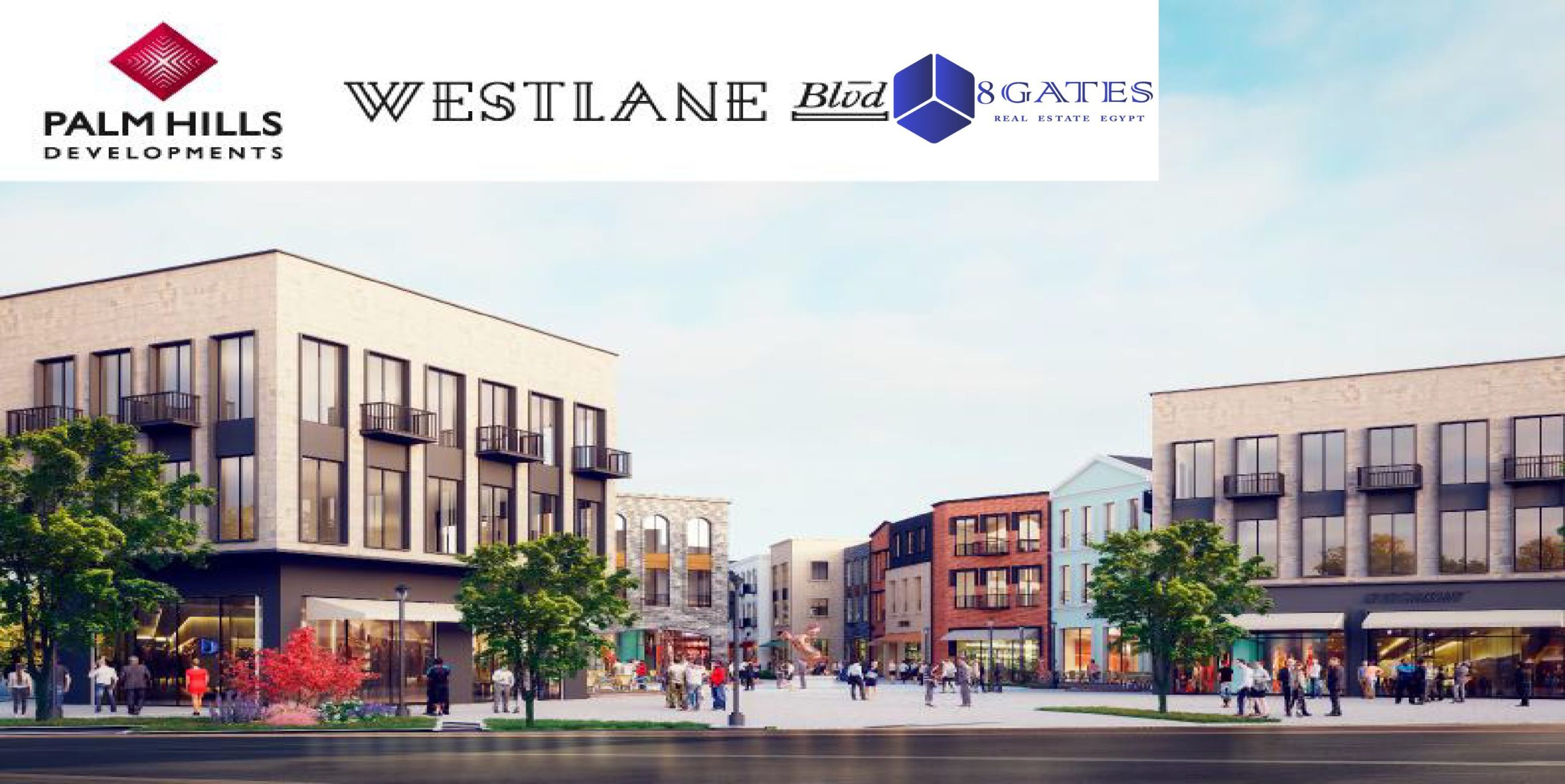 Westlane Boulevard palm hills Palm Parks Compound Residental and commercial Office building Unit For Sale Shop and Offices - 8 Gates Real Estate Egypt (3)