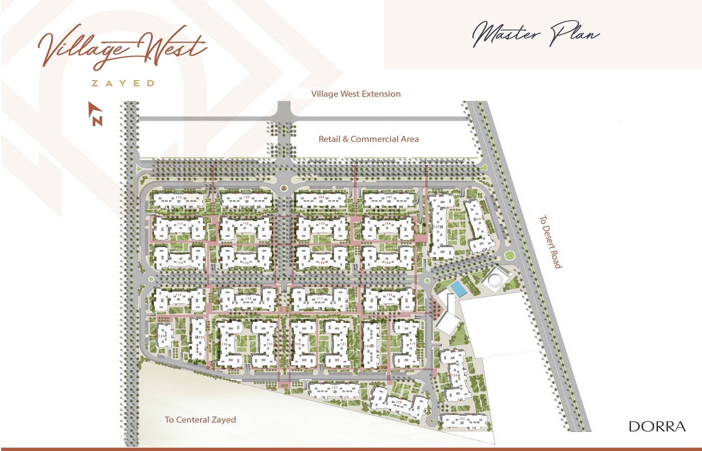 Village West Sheikh Zayed Compounds Dorra Developments - Fully Finished Apartments Village West Master Plan, Location and Prices -- 8 Gates Real Estate Egypt (0)